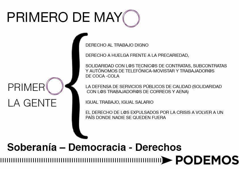 Podemos 1 Mayo
